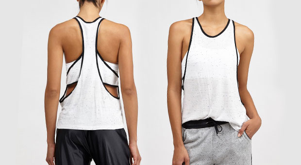 4f2ae4a822c1a3 14 Strappy Exercise Tanks That Present Off Your Again – Health ...