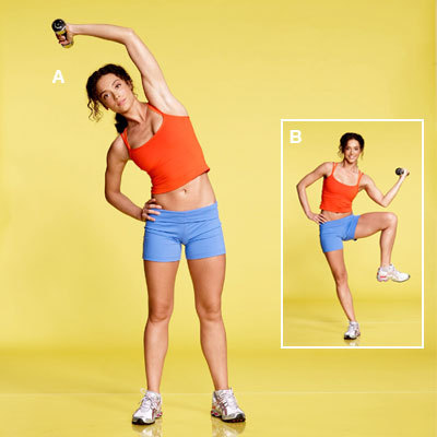Standing oblique crunch - A Core Workout for Flat Abs in 4 ...Oblique Exercises