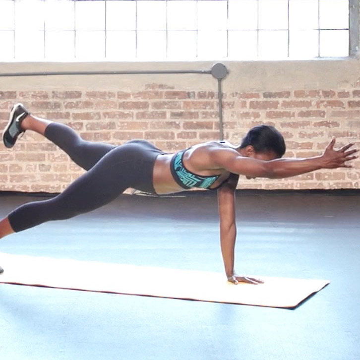improve your balance with a plank reach - fitness