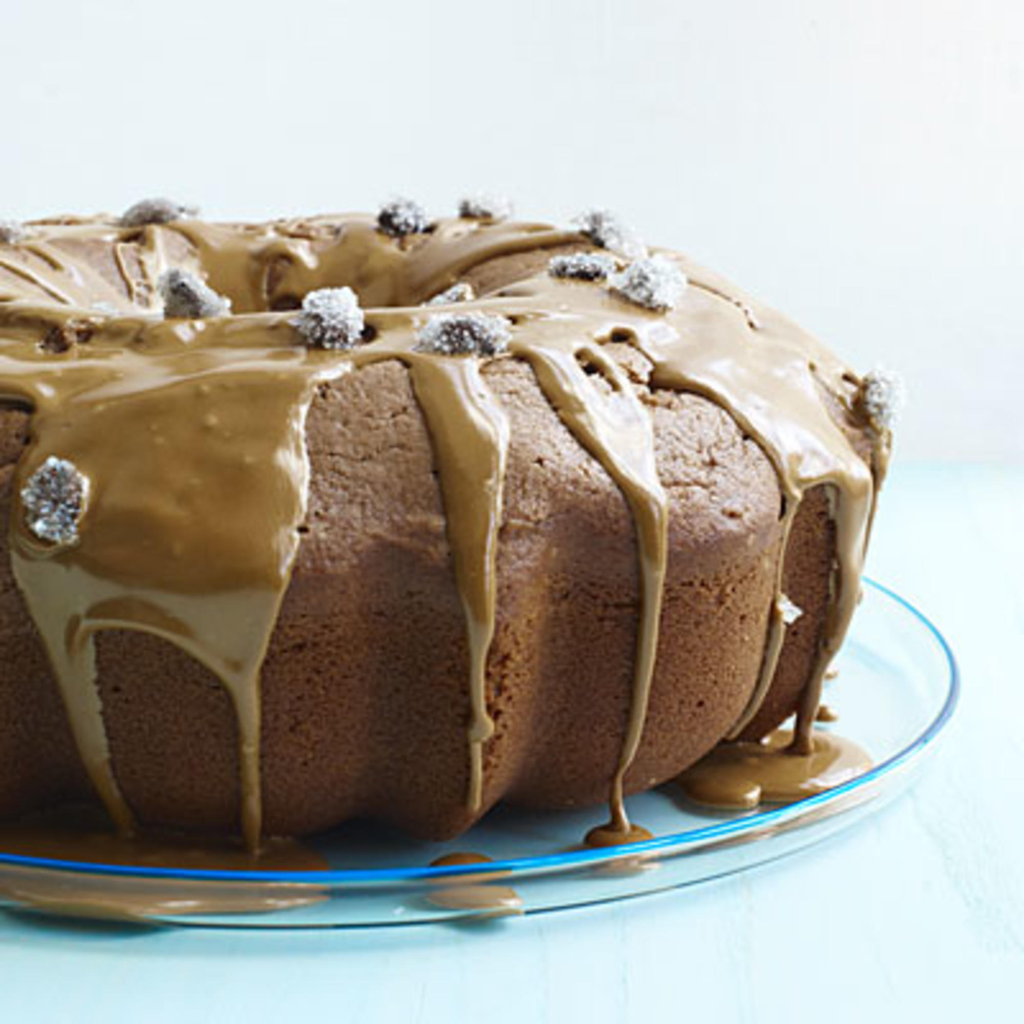 Recipe of coffee cake with icing