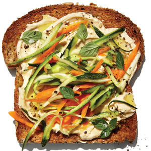 vegetable-hummus-toast-recipe
