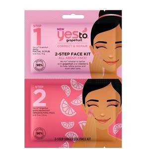 Yes To Grapefruit 2-Step Single Use Face Kit All About Face!