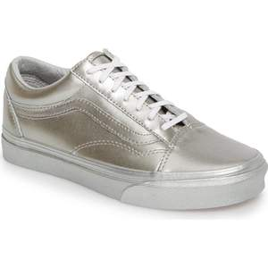 vans old skool silver metallic
