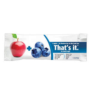 That's it. Apple and Blueberry Fruit Bar