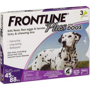 Frontline Plus Flea and Tick Control for Dogs