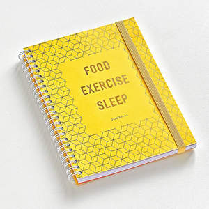 Food Exercise Sleep Wellness Journal