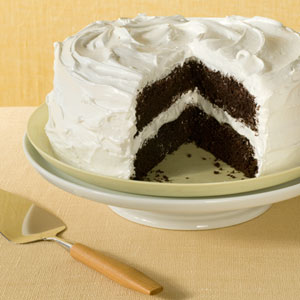 Deep Dark Chocolate Layer Cake
