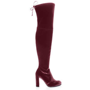 Stuart Weitzman Hiline Over-The-Knee Velvet Boots