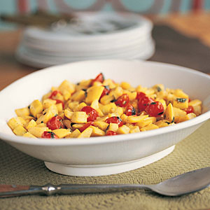 Summer Squash with Tomatoes and Basil