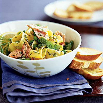 salmon-pappardelle