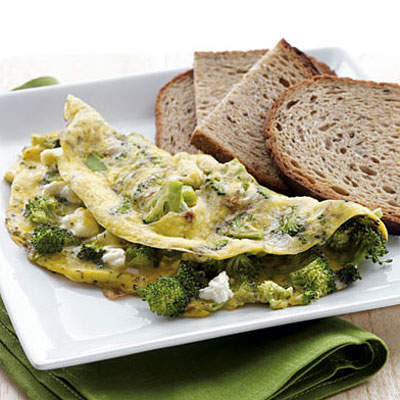 broccoli-feta-omelet