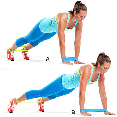 Resistance band plank