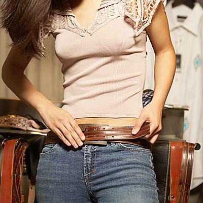 measure your fullness by wearing a belt