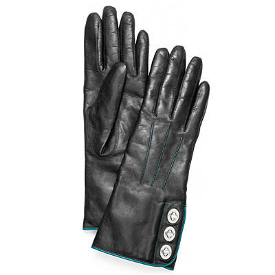 coach-black-leather-gloves
