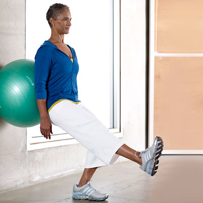 onelegged wall squats  fit at any age your 50s strength