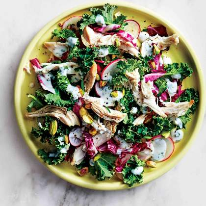 Chicken-and-Kale Salad With Herbed Buttermilk Dressing
