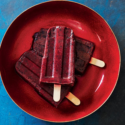 Lavender-Blueberry Popsicles