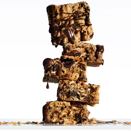 Chocolate Peanut-Butter Energy Bars