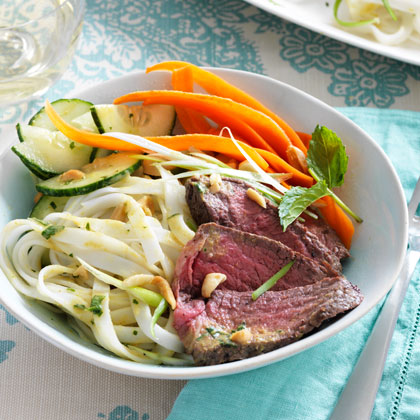 Curry-Coconut Steak and Noodle Salad
