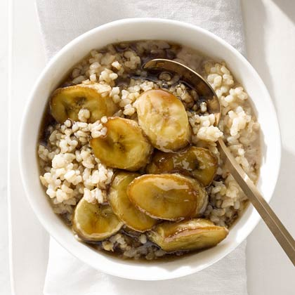 Banana and Brown Rice Breakfast Pudding