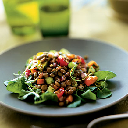 Lentil Salad with Tomatoes and Watercress - Health.com
