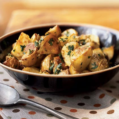 Garlicky Roasted Potatoes with Herbs