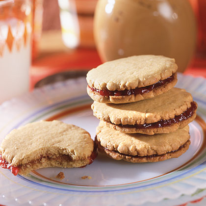 Peanut Butter-and-Jelly Sandwich Cookies