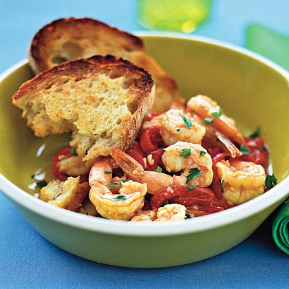 Shrimp and Piquillo Peppers