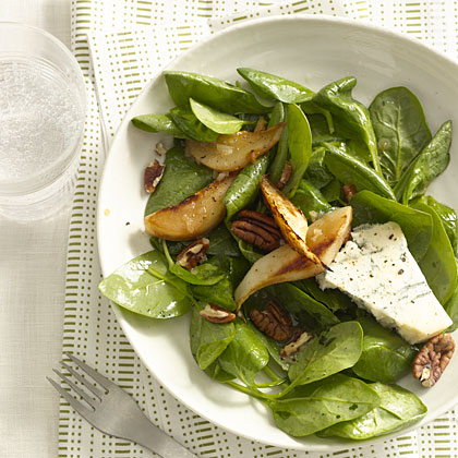 spinach-pear-blue-salad