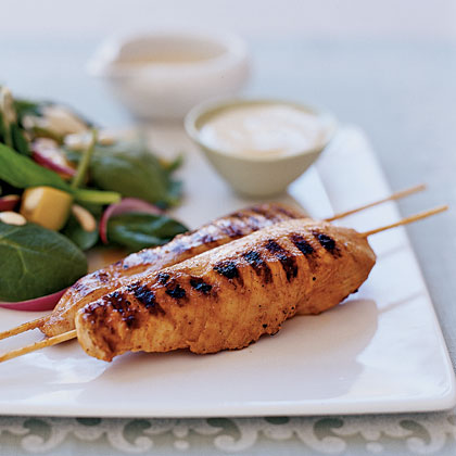 Yogurt-and-Spice Grilled Chicken Skewers - Health.com