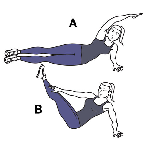 side lying swivel crunch