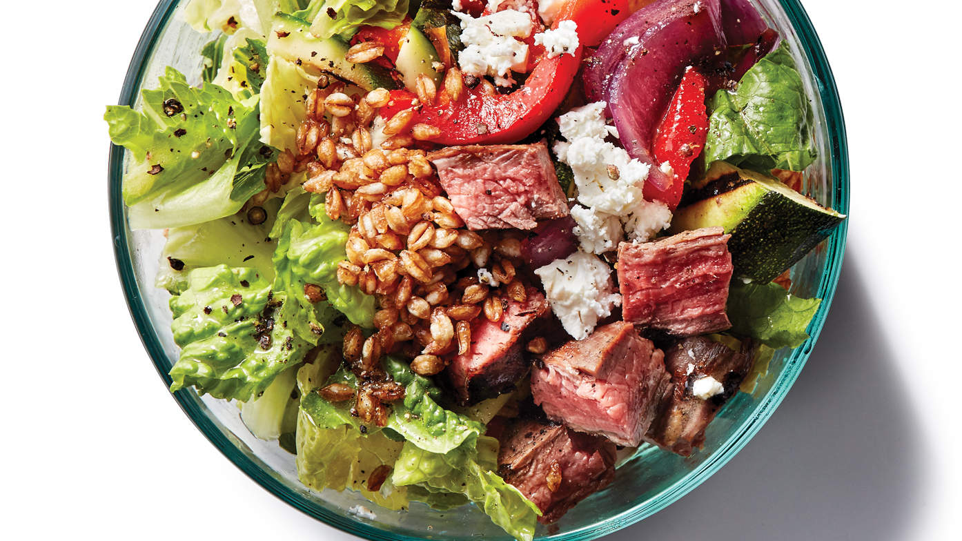 Steak and Toasted Farro Bowl