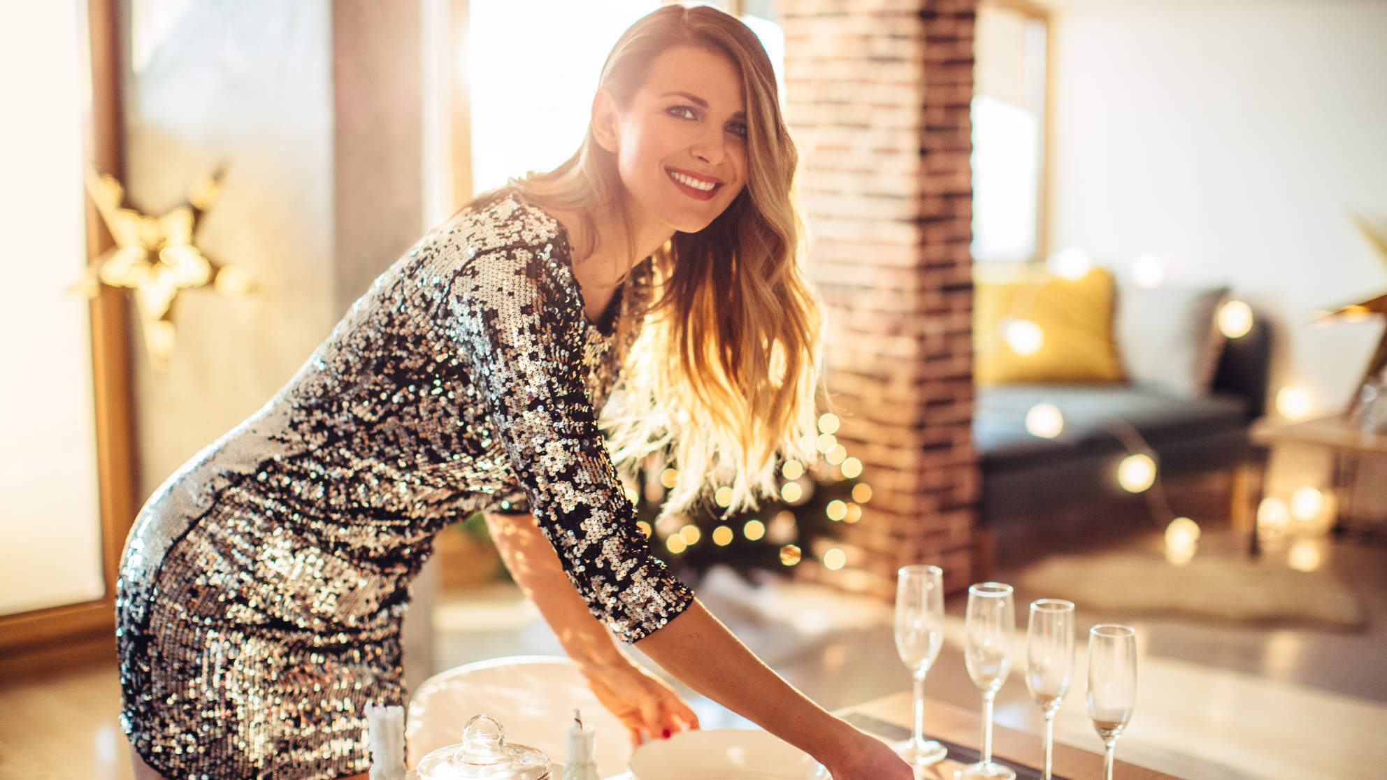 skip workouts during the holidays body positive party dress dinner