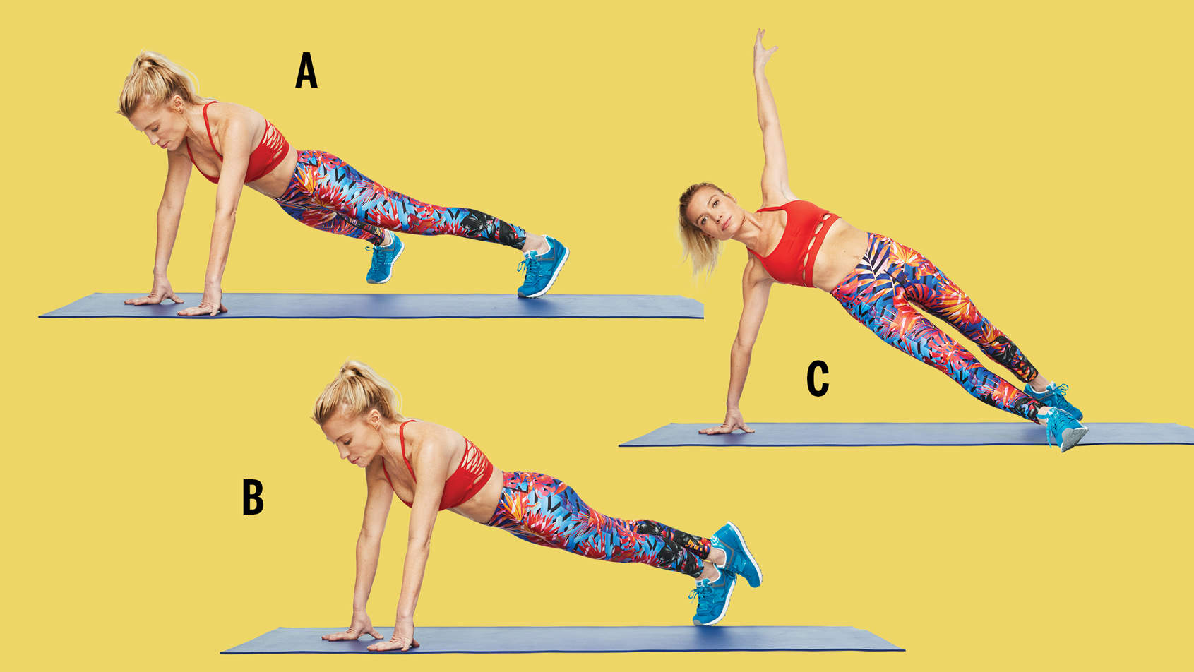 tracy anderson gut check plank sous sous to forward step