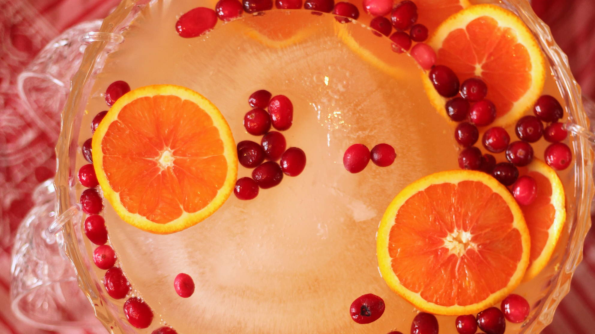 Your Guests Will Love This Sweet, Spiked Holiday Punch That's Packed With Superfoods