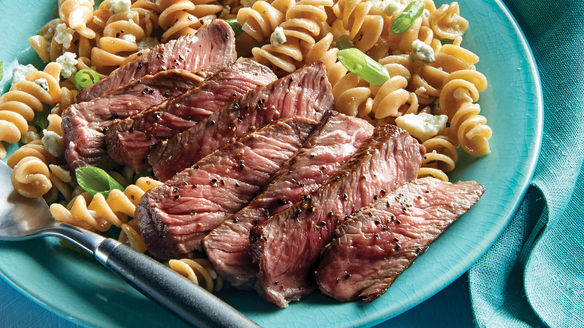 Sirloin Strips with Blue Cheese Rotini