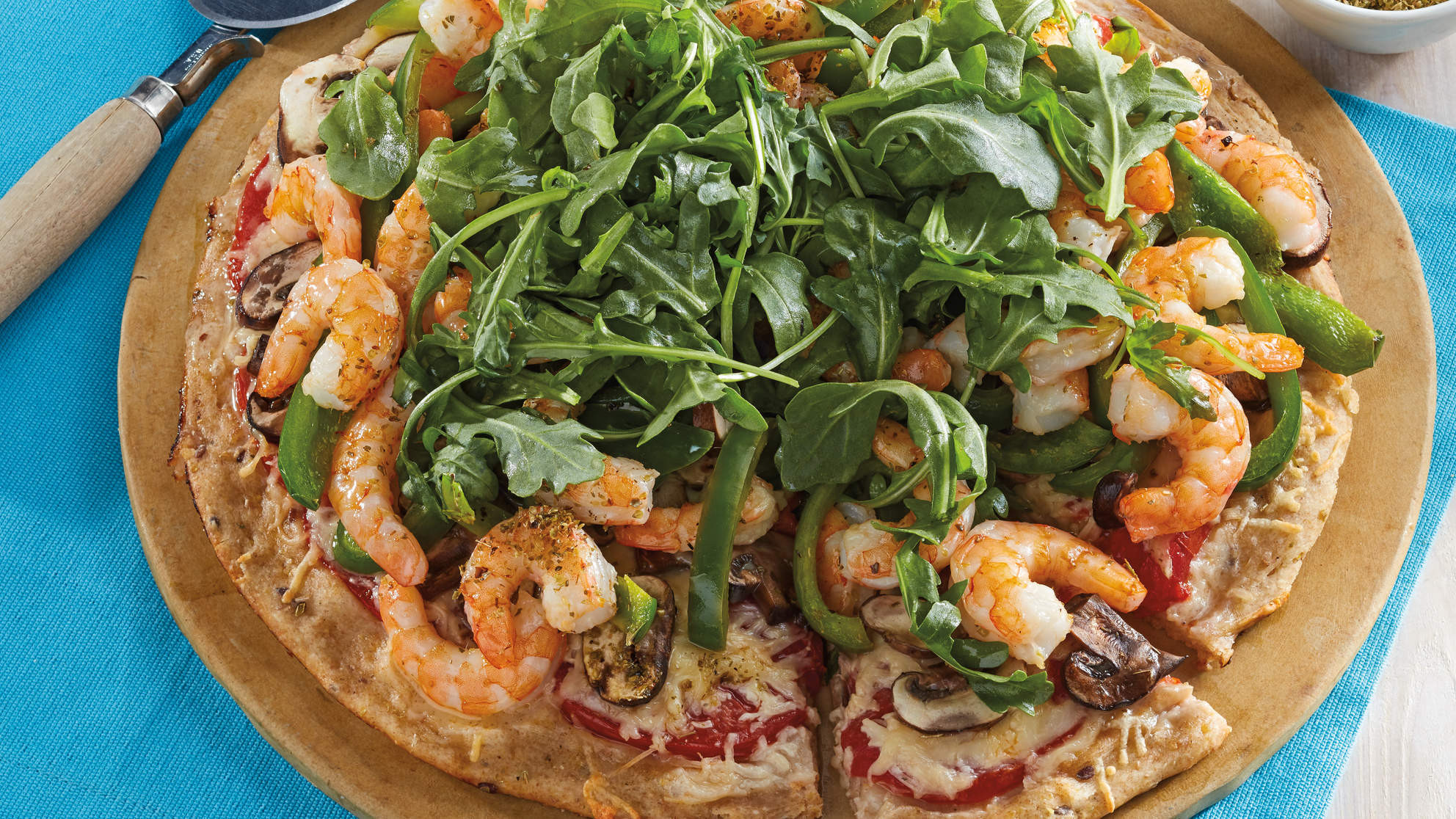 Shrimp and Mushroom Pizza