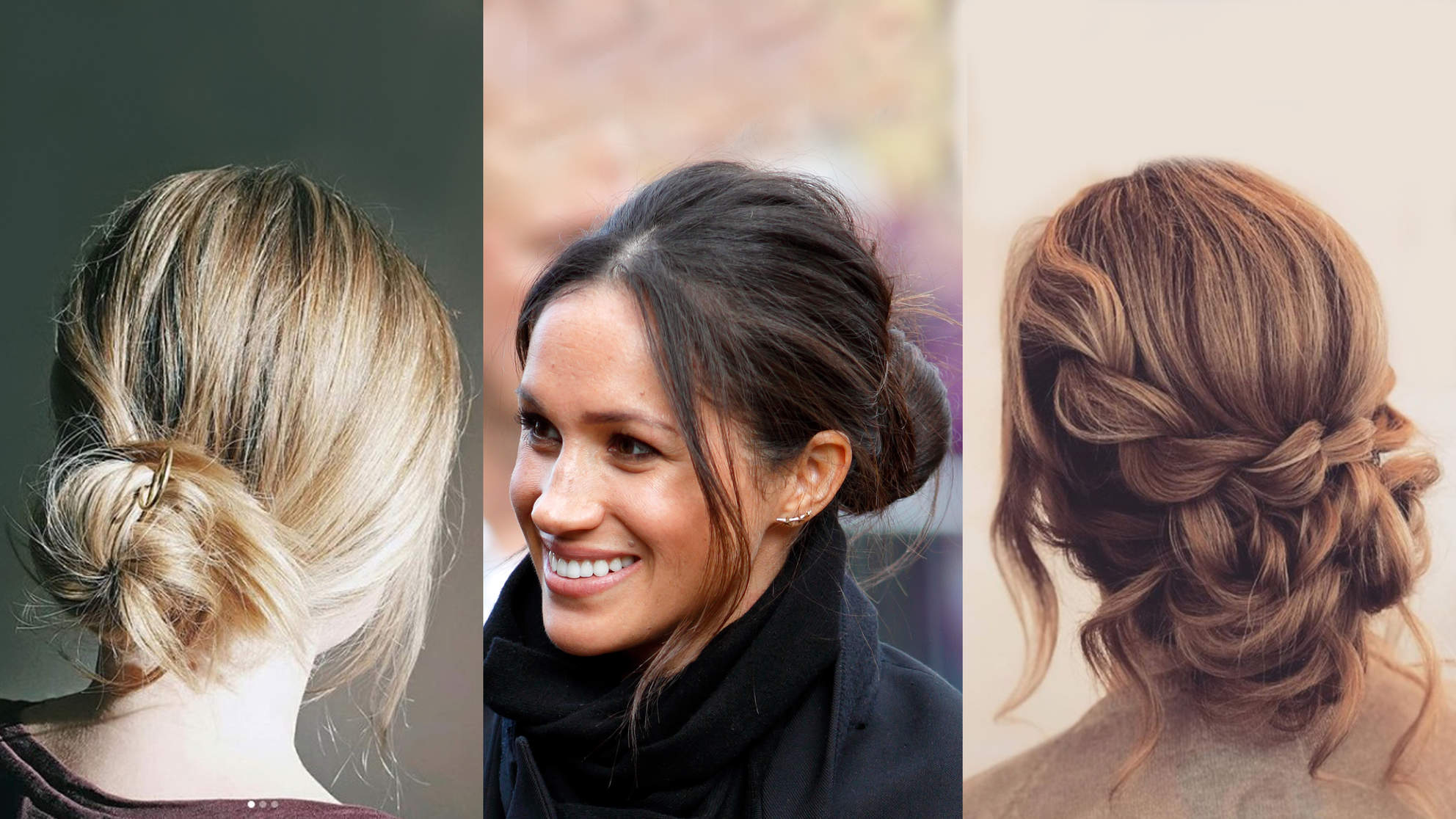 messy-bun-ideas-meghan-markle