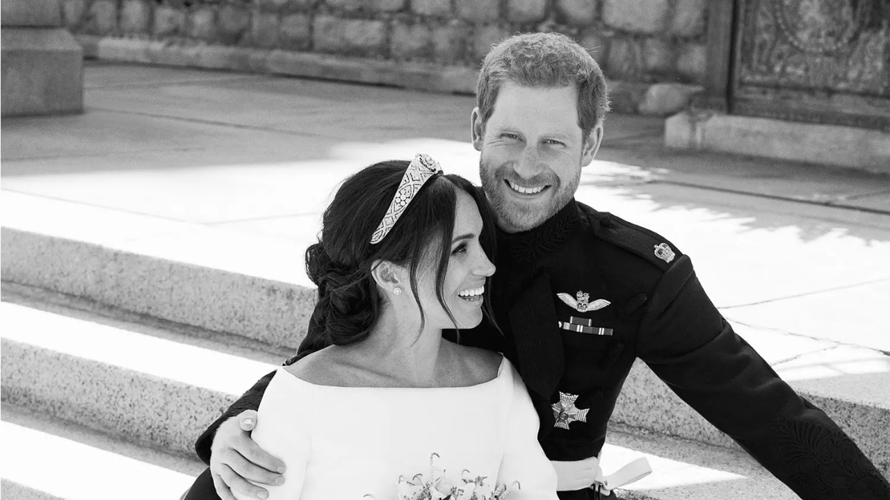 Prince Harry and Meghan Markle's Official Wedding Portraits Have Just Been Released