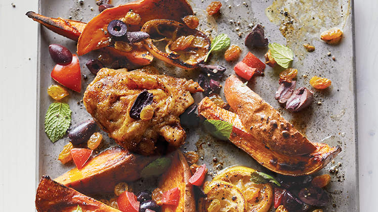 Moroccan Chicken with Sweet Potatoes
