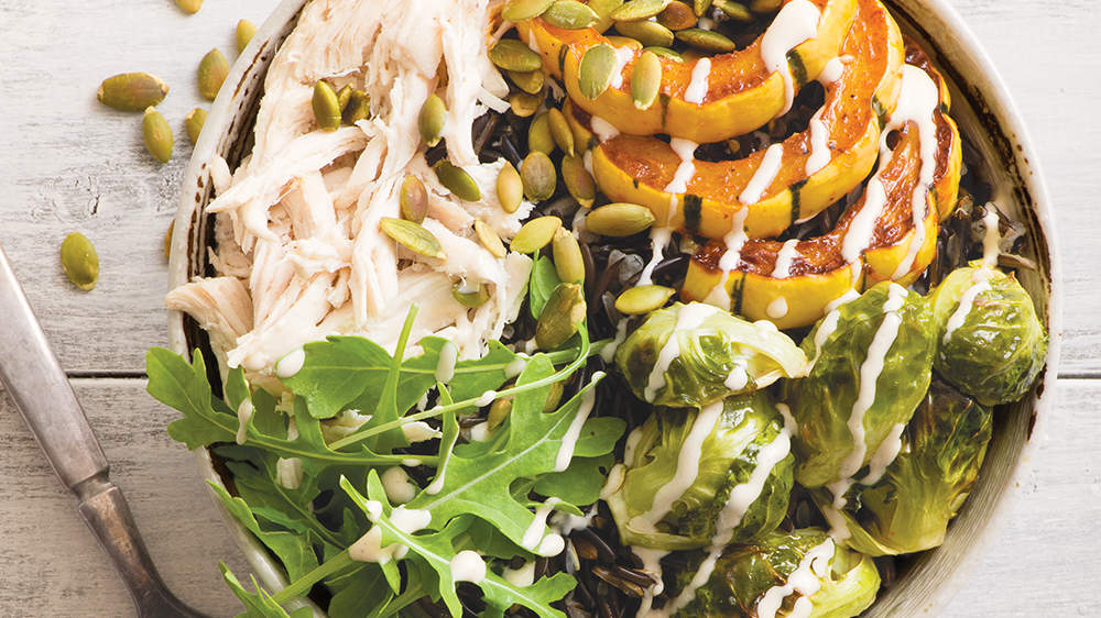 warm-autumn-chicken-wild-rice-buddha-bowl