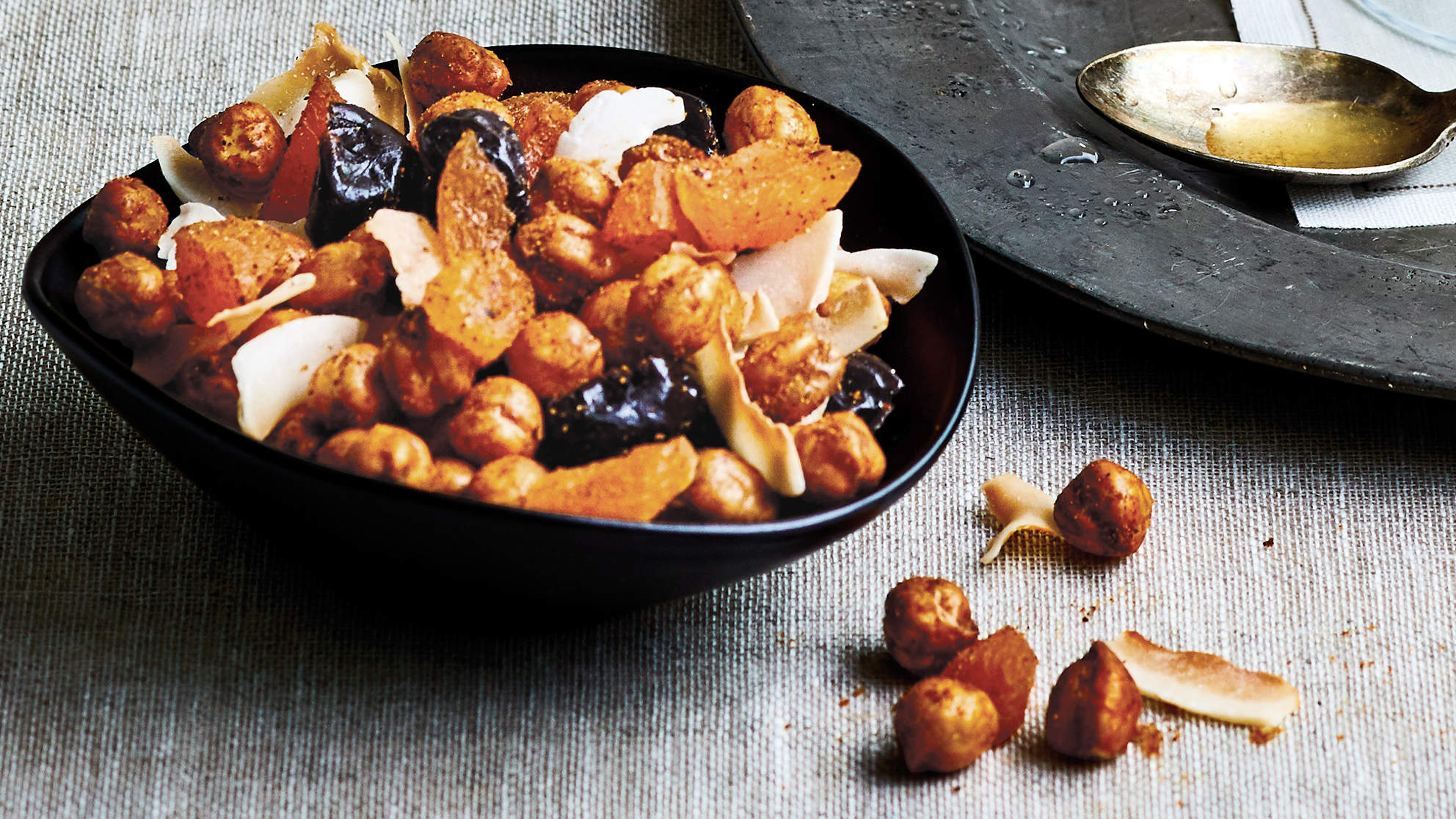 Crispy Curried Chickpea Snack Mix
