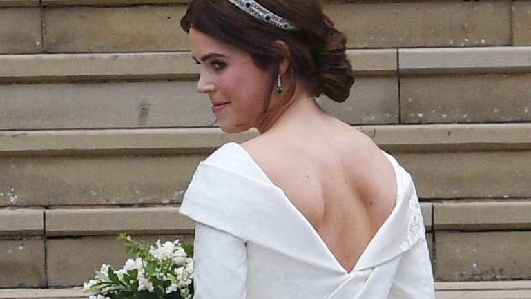 Princess Eugenie Just Got Married in a Wedding Dress That Reveals Her Scar and the Internet Is Loving It