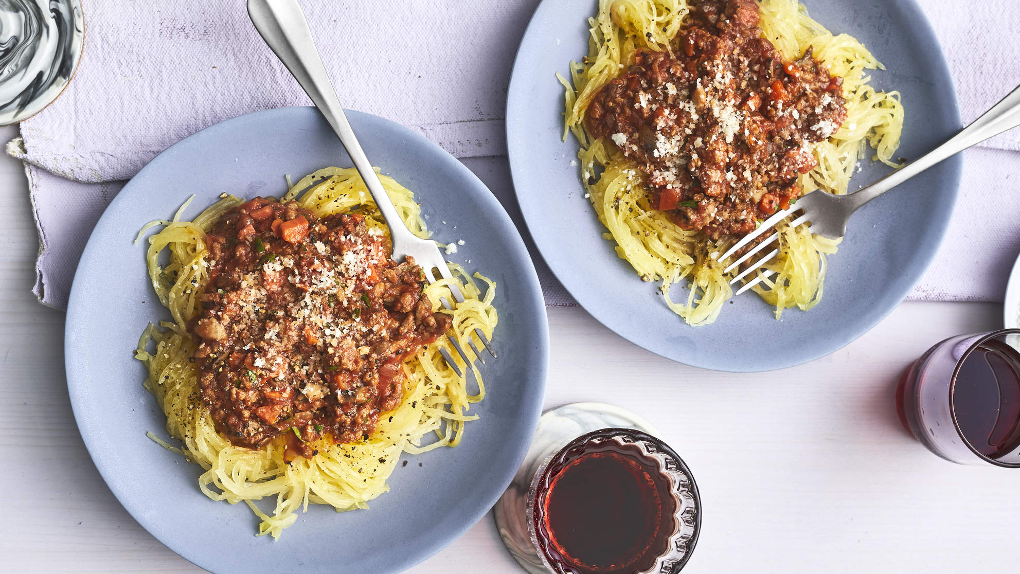 Turkey-Vegetable Bolognese With Spaghetti Squash