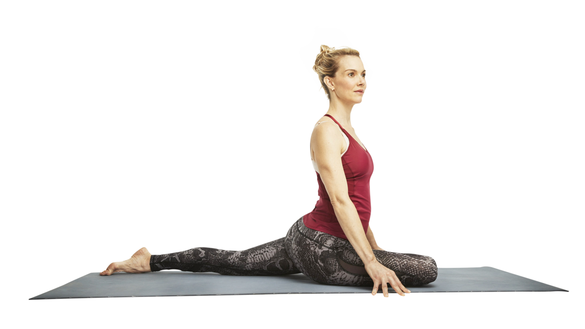 yoga hip opener stretch woman exercise relax health elasticity strength bones women health-magazine