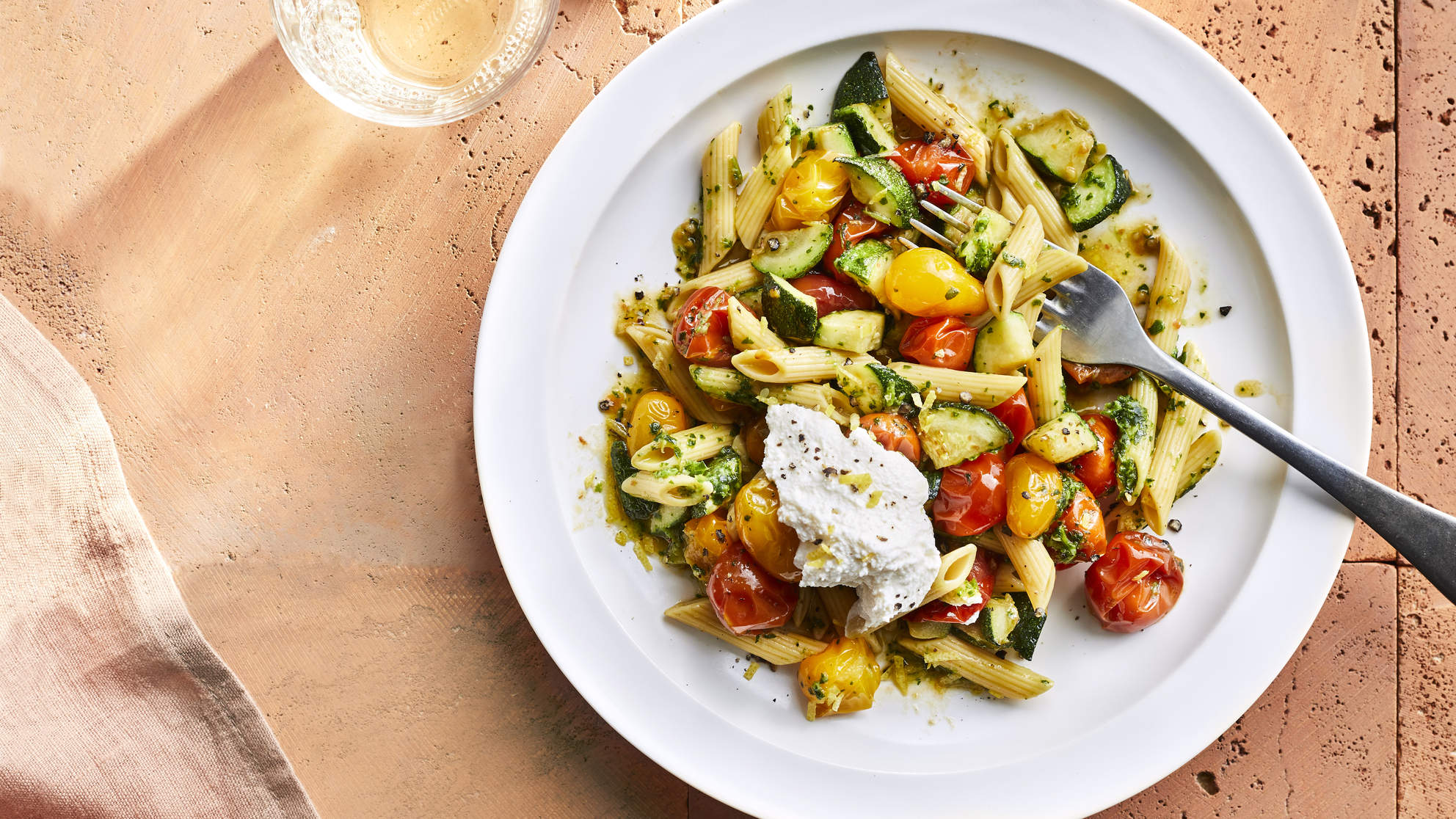 Zucchini and Pesto Pasta