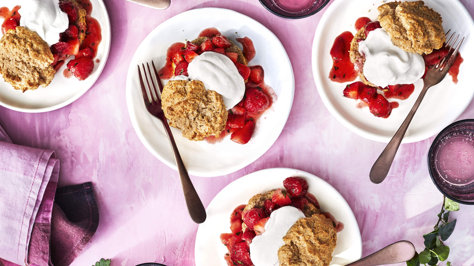 DOUBLE-BERRY SHORTCAKES