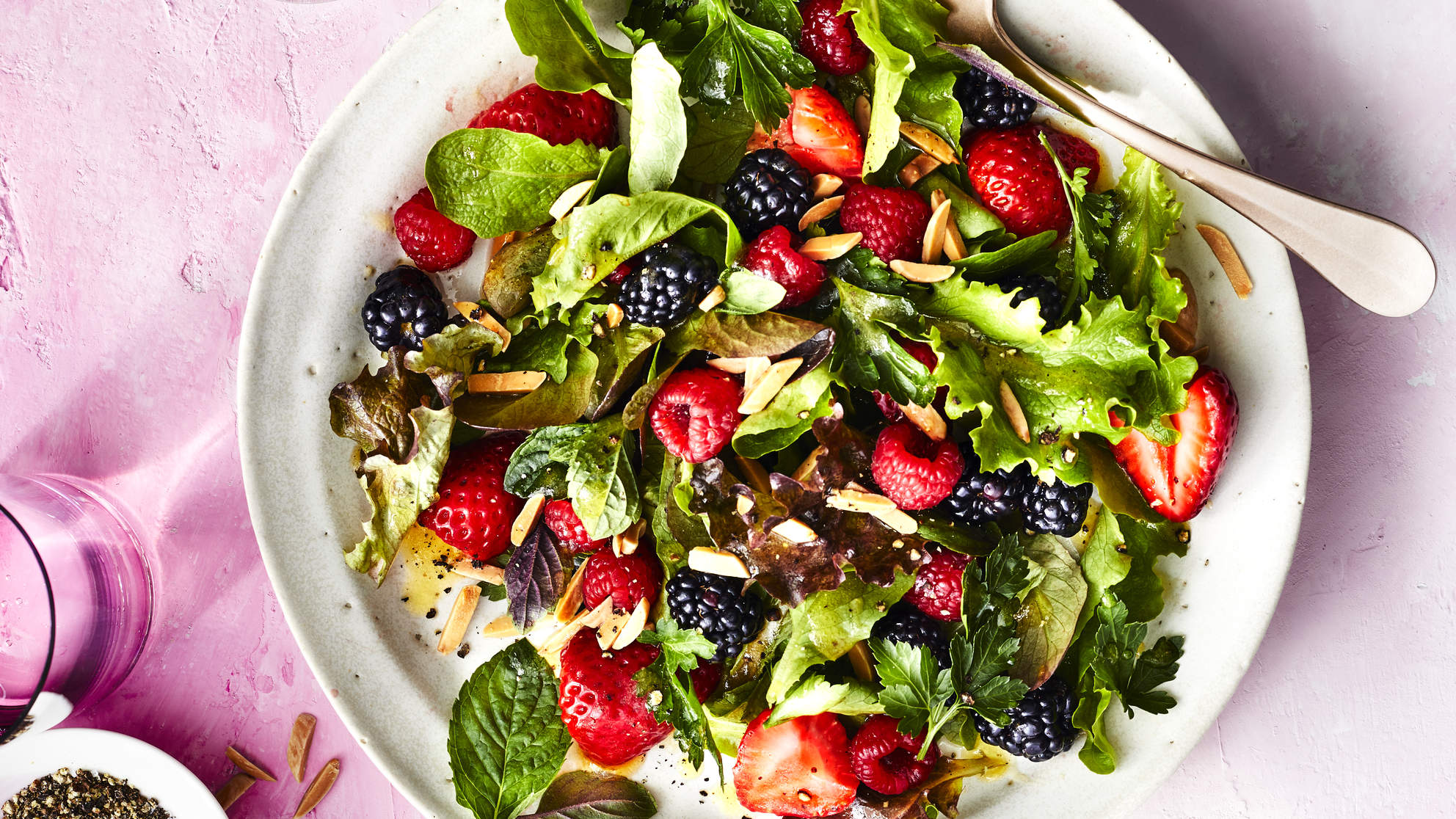 Fresh Berry & Herb Salad