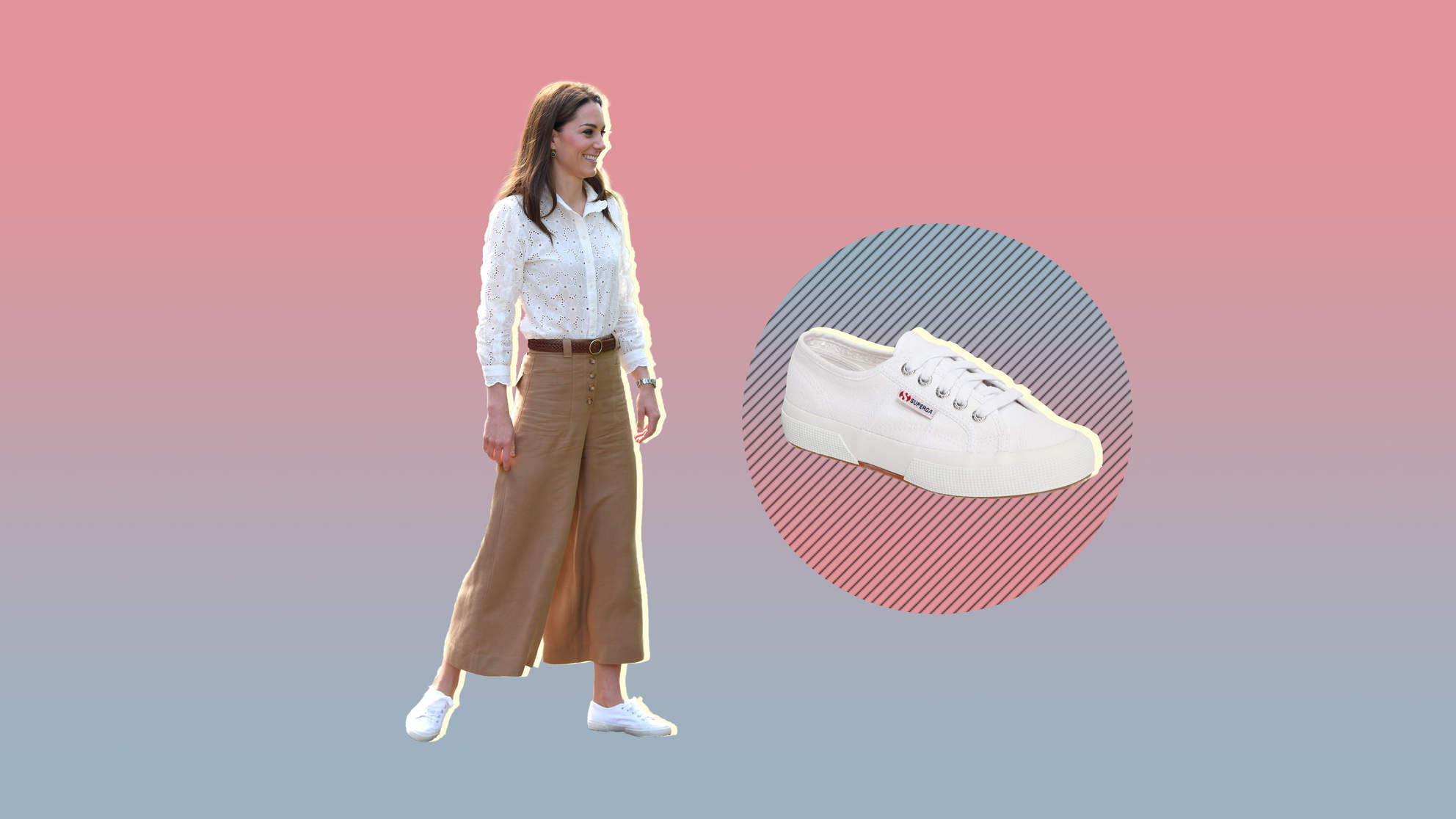 Kate Middleton Just Wore the Cutest White Sneakers for Summer