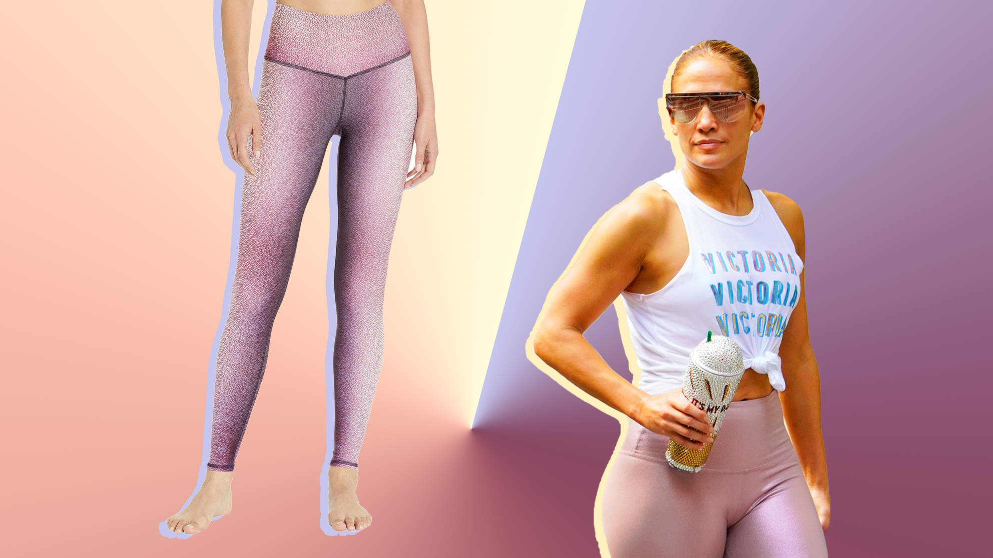 Jennifer Lopez Sports Niyama Sol Leggings in Bold Gym Look Posted by Fiancé Alex Rodriguez